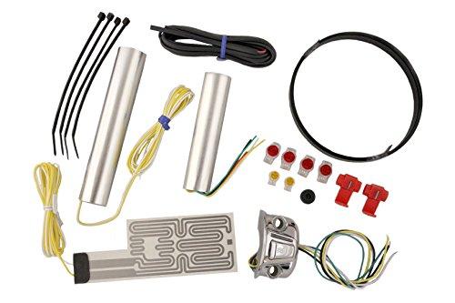 Heat Demon 211055 Chrome Left Mount Motorcycle Grip Heater Kit ()