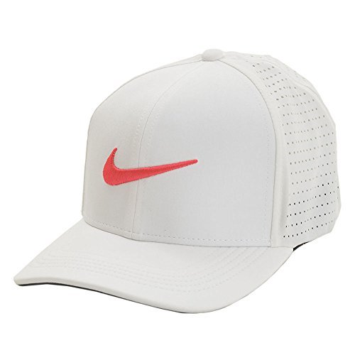 117acef11c5 Galleon - Nike Classic 99 Performance Golf Cap 2017 White Anthracite Siren  Red Large X-Large