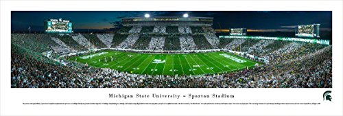 Michigan State Football - Stripe - 50 Yd - Blakeway Panoramas Unframed College Sports Posters