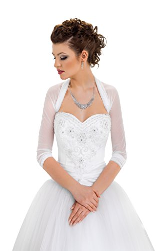 Jackets Bolero Bridal (OssaFashion-BridalWear Bridal Ivory White Tulle Bolero Shrug Wedding Jacket Shawl S M L XL XXL XXXL)