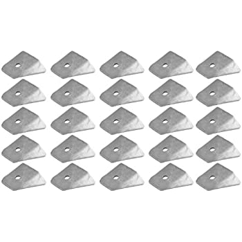 Allstar ALL60018-25 1-1//2 Tall 3//16 Thick 1//2 Hole 7//8 Mild Steel Center Hole Height Flat Seat Chassis Tab, Pack of 25