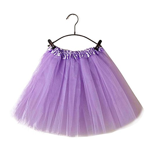 Tonsee Femmes Mode Ballet Tutu Layered Organza Dentelle mini Jupe Violet clair
