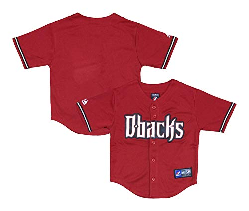 Arizona Diamondbacks Word Mark Red Infants Toddler Authentic Alternate Jersey (12 Months) ()