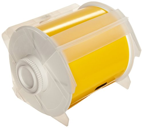 Brady High Adhesion Vinyl Label Tape (113114) - Yellow Vinyl Film - Compatible with GlobalMark Industrial Label Printer - 100' Length, 4