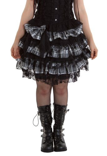 Punk Lolita Short Skirt 9 Black and White-One size fits all