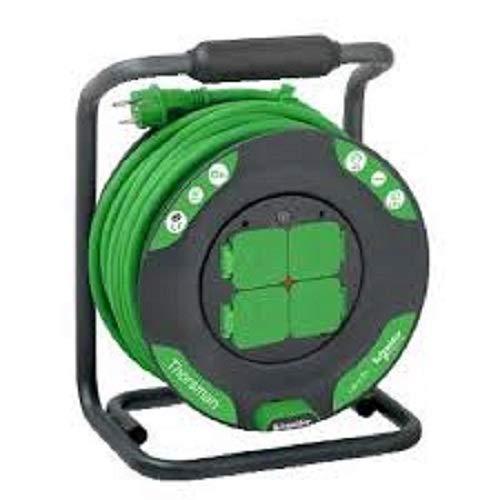 Vert Schneider Electric SC5IMT33150 Enrouleur Chantier 25m HO7RNF 3G2,5 IP44