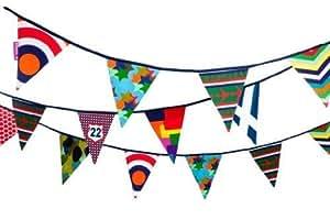 Engel/Life's A Party - Banderines de fiesta (tamaño grande, algodón, 11,5 m de largo), multicolor