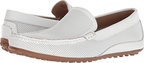 (Florsheim Men's Oval Perf Driver White Smooth 8 M US)