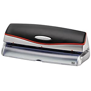 Swingline Optima 20 Electric 3 Hole Punch, 20 Sheet Capacity, Silver (A7074520)