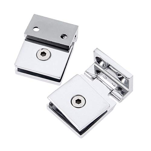 Shower Door Square Fixed Panel Clamp with Large Leg,Glass Shelf Brackets Support,Shower Doors Partition Hinge,SUS 304 Stainless Steel Polished Chrome