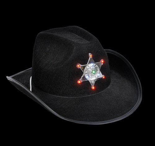 "20"" LIGHT-UP SHERIFF COWBOY HAT, Case of 36"