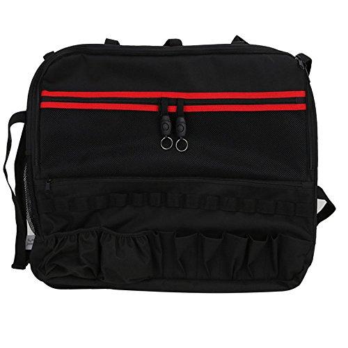 Bolaxin Multi-Pockets Storage Bag & Organizers & Cargo Bag Saddlebag & Tool Kits Bottle Drink Phone Tissue Gadget Holder for 1997~2018 Jeep Wrangler JK TJ JL LJ & Unlimited 2 Doors - Pack of 1 ()