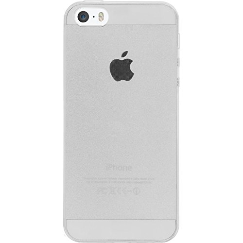 PhoneNatic Case für Apple iPhone 5 / 5s / SE Hülle Silikon clear Slimcase Cover iPhone 5 / 5s / SE Tasche + 2 Schutzfolien
