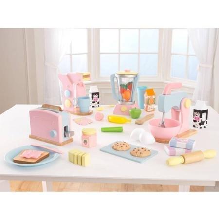 Kidkraft Blender - KidKraft Pastel Play Kitchen Accessories 4pk