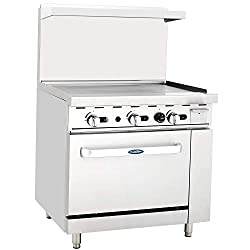 Atosa Us Ato 36g Commercial Restaurant Griddle 36 Stainless Steel With Oven Cooks Standard Natural Gas Range 102 000 Btu
