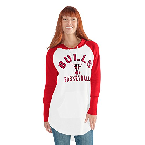 NBA Chicago Bulls Adult Women All Division Tunic Hoody, X-Large, (Chicago Tunic)