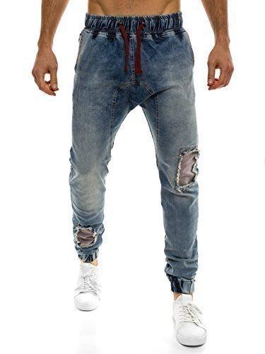 OZONEE Hombre Jogger Pantalón de ocio Pantalón chándal pantalones Fitness Athletic 487 NHYCnt4jOE
