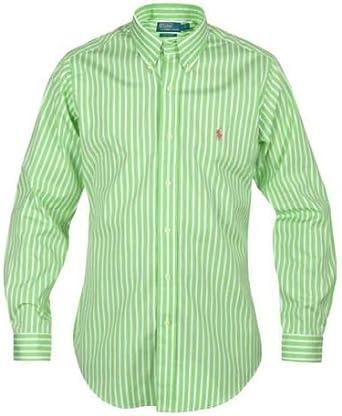 Ralph Lauren - Camisa para hombre, color verde y blanco: Amazon.es: Ropa y accesorios
