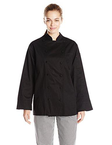 Dickies Chef Women's Annabella Executive Coat, Black, Small