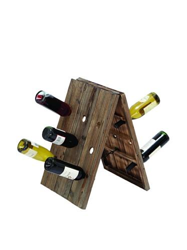 Rustic 18 Bottle Wine Rack For Sale