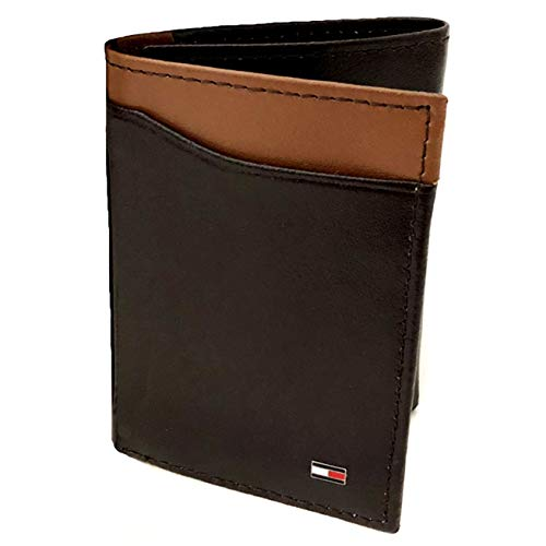 Tommy Hilfiger LEATHER WALLET & VALET, Tri-fold, RFID Protection - Brown/Tan (31HP110029)