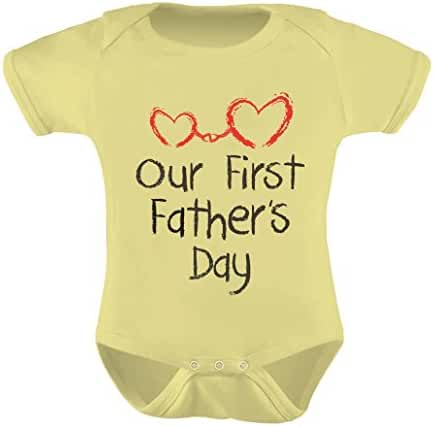 Our First Father's Day Gift - Daddy and Me Cute Infant Baby Bodysuit