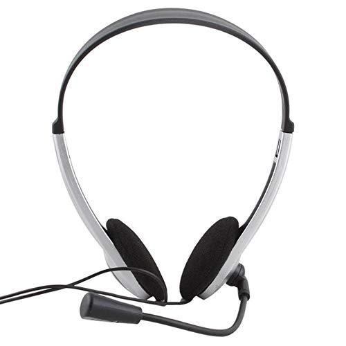 BFHCVDF Earphone Headphone w//Microphone MIC VOIP Headset Skype for PC Computer Laptop Sliver-blackSliver-black