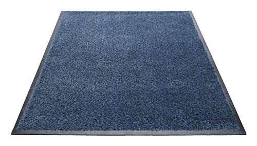 - Guardian Platinum Series Indoor Wiper Floor Mat, Rubber with Nylon Carpet, 3'x10', Blue