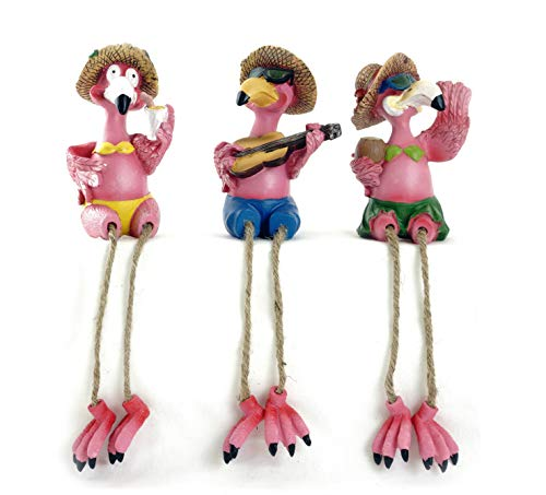 Gerson Flamingos in Paradise Shelf Sitter Figurines - Set of 3