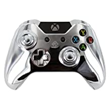 """""""Chrome Silver"""" Xbox One Custom Modded Controller with Chrome Buttons and OEM Thumbsticks"""
