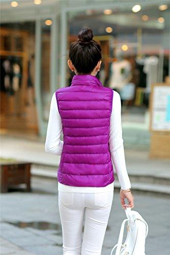Jacket Col Quibine Violet Gilet Manches Montant Femme sans Doudoune Fqw6vwx0XT