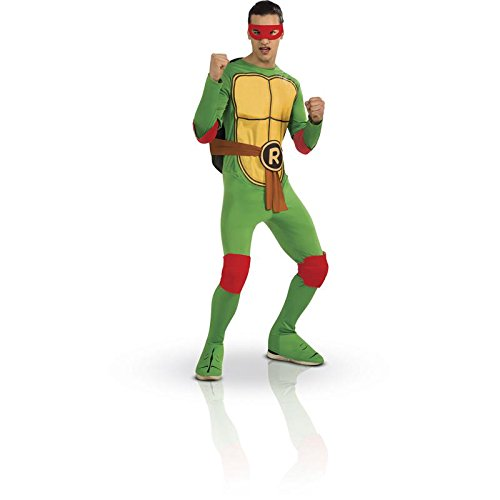 Nickelodeon Ninja Turtles Adult Raphael and Accessories, Green, Standard Costume
