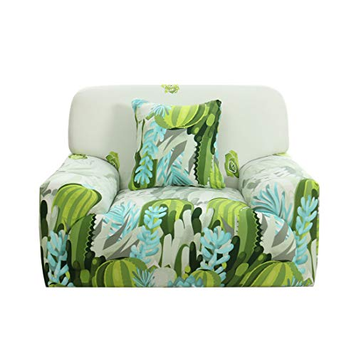 (uxcell Sofa Slipcover for 1 2 3 4 Seater Couch Spandex Polyester Stretch Anti-Wrinkle Slip Resistant 1 Piece Sofa Protector for Pet Dog with One Free Cushion Case #20, 35