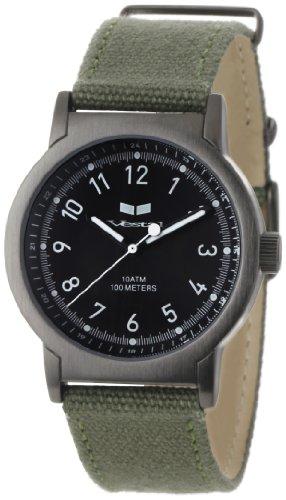Vestal Men's ALP005 Alpha Bravo Gunmetal Army Green Canvas Watch