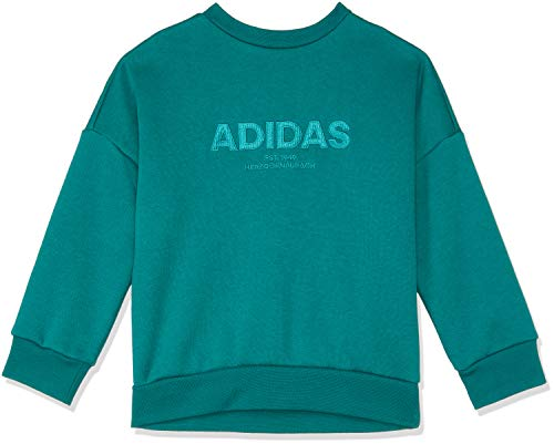Adidas Ragazzo Felpa pantone Noble Lunghe Da A Maniche Crew Green Allcap black pqnxrp6Z