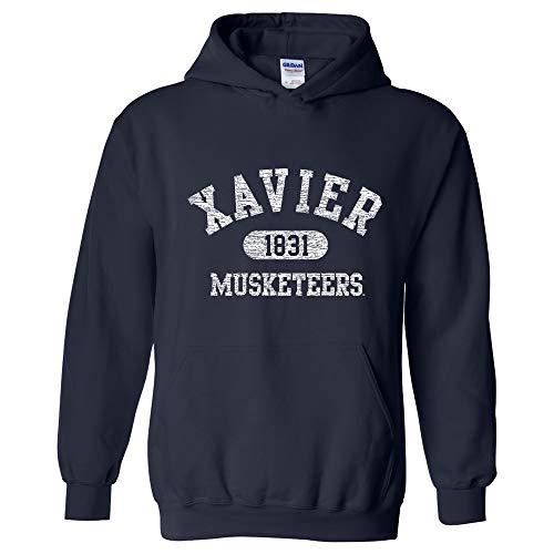 UGP Campus Apparel AH20 - Xavier Musketeers Athletic Arch Hoodie - 3X-Large - Navy