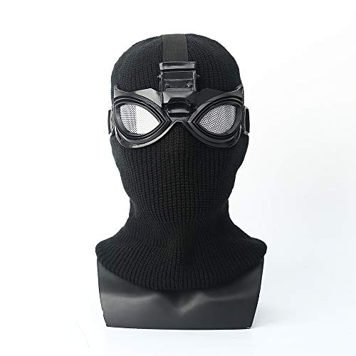 ke Spider-Man: Far from Home Mask Head Cover Black Mask Shadow Sneak Battle Suit Cosplay Spider-Man (Black)]()