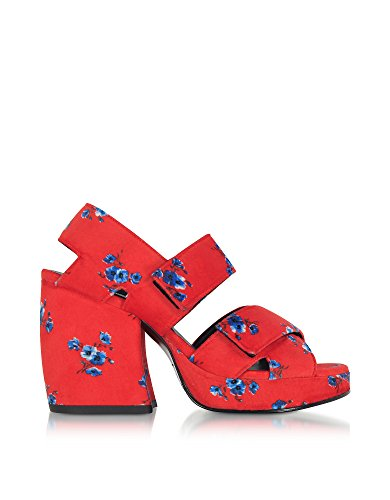 Kenzo-Womens-F761SD510F9821-Red-Fabric-Sandals
