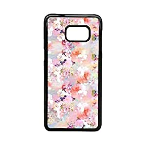 HD Exquisite image For Samsung Galaxy Note 5 Edge S6 Edge+ Cell Phone Case Black pink floral MIO0599903