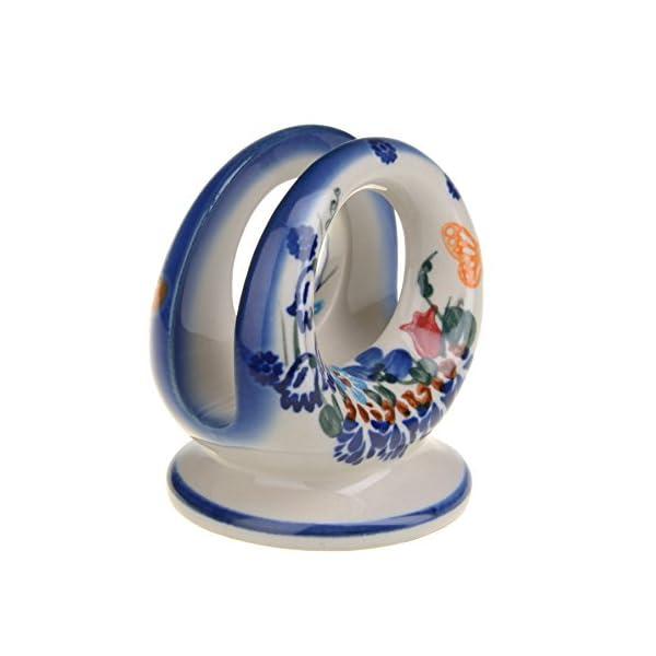 Classic Boleslawiec Pottery Hand Painted Ceramic Napkin/Serviette Holder 507 (U-099)
