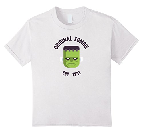 Kids The Original Zombie Funny Ganster Zombie October Shirt 10 (White Ganster)