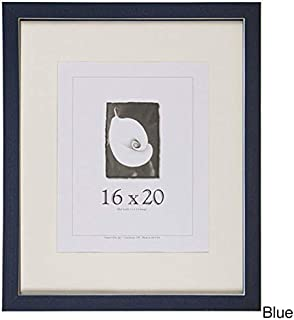 product image for Frame USA Clean Cut Series 16x20 Wood Picture Frames (Blue) | Choose Size and Color