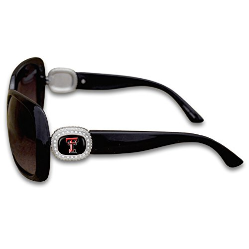 Texas Tech Red Raiders Chantilly Sunglasses Embellished with Rhinestone Logo (Texas Tech Red Raiders Glass)