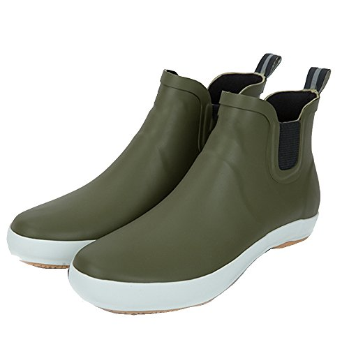 Women's rain boots sexy Rain Boots Short Tube Low Boots Waterproof Shoes Rubber Shoes Ms. Shoes Waterproof Non-slip Spring And Summer Rubber Tide Fashion (Color : Gray, Size : EU43/UK9/CN44) Green