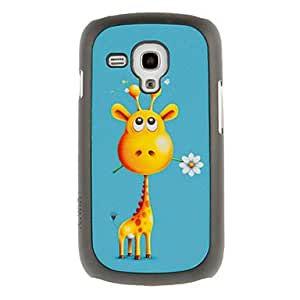 Cuty Deerlet with Flower Drawing Pattern Protective Hard Back Cover Case for Samsung Galaxy S3 Mini I8190