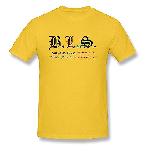 AOPO Black Label Society O-Neck Tshirts For Men Medium Yellow