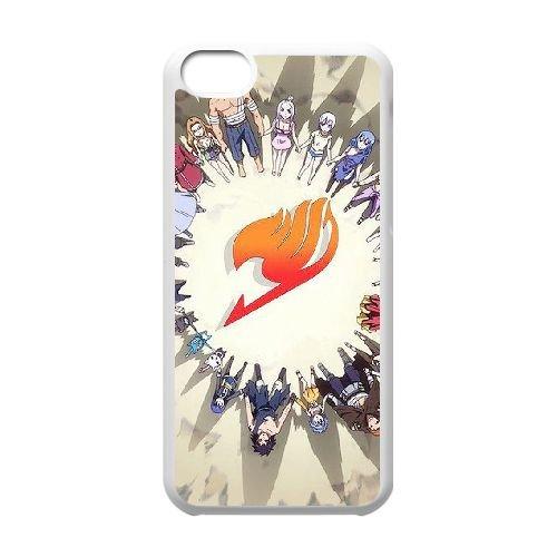 Fairy Tail 030 coque iPhone 5C Housse Blanc téléphone portable couverture de cas coque EOKXLLNCD14234