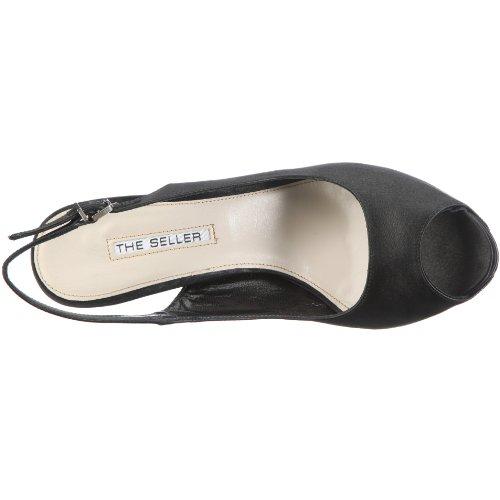 The Seller Heather, Women's Open Toe Sandals Black - Schwarz/Nero