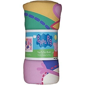 Peppa Pig Hooray Polar Manta de Forro Polar dise/ño de Arco Iris Single poli/éster Rosa
