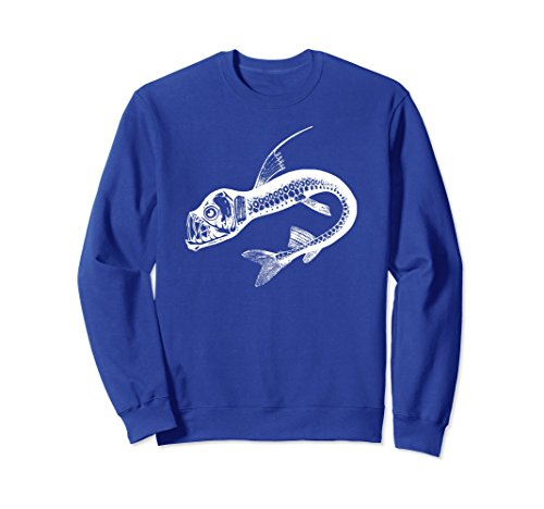 Unisex Viperfish Deep Sea Monster Sweatshirt - Viper Fish XL: Royal Blue (22 Sea Wolf)